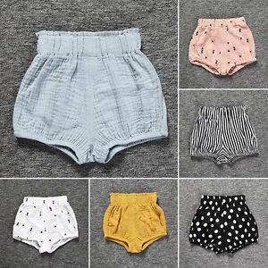 Mignon-bebe-nourisson-fille-taille-haute-PP-Shorts-culottes-bouffantes-RUFFLE