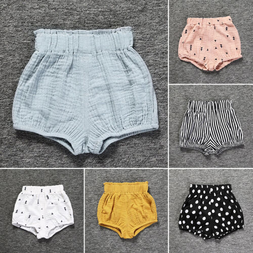 Cute Baby Toddler Kids Clothes Girls Short Pants Cotto Linen diaper Cover Shorts