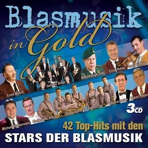Blasmusik-in-oro-3-CD-con-Ernst-mosch-ecc-NUOVO