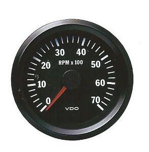 COCKPIT-VISION-VDO-TACHOMETER-0-7000RPM-80mm-BRAND-NEW