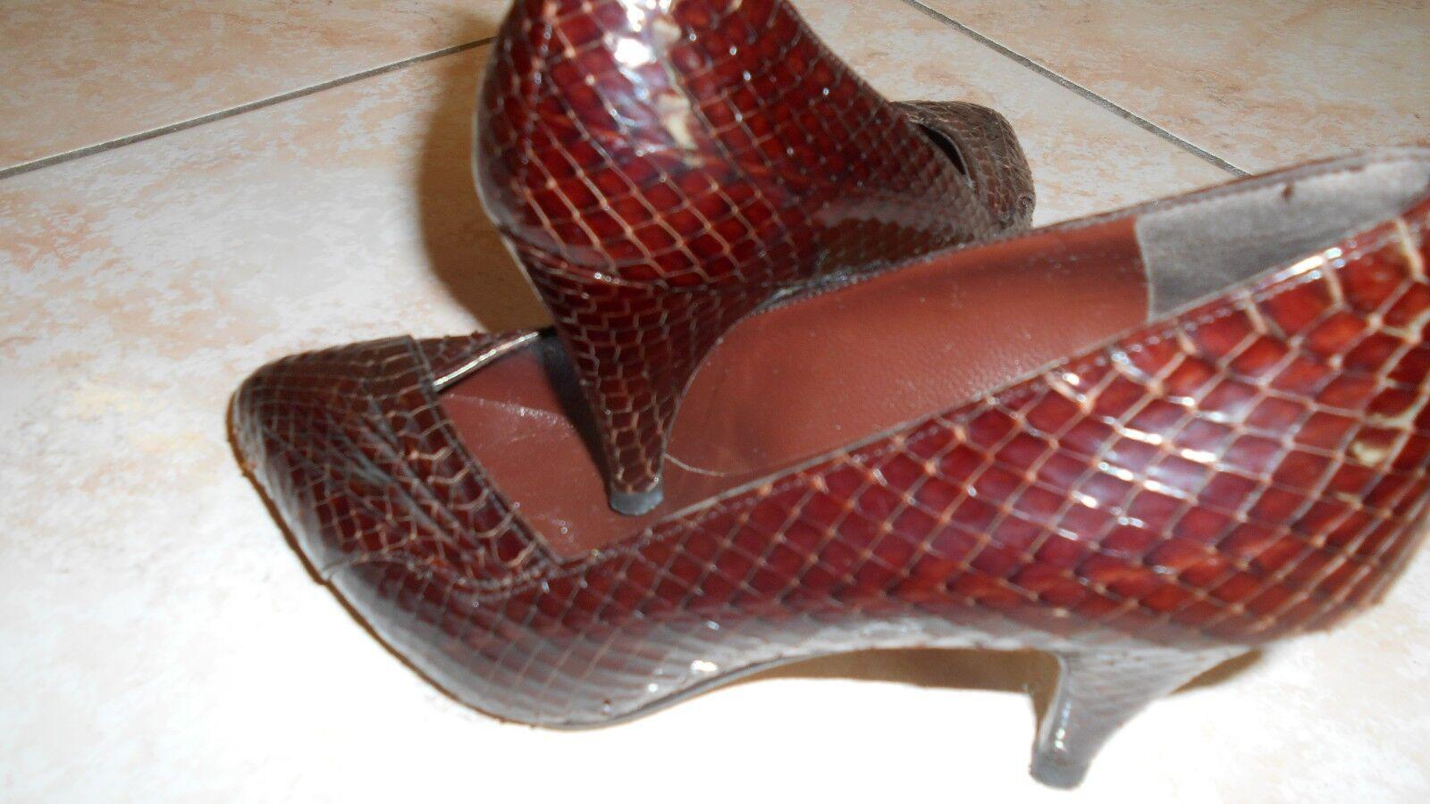 zapatos IN PELLE RETTILE TG.35,5 MODA FIDEN FIDEN FIDEN FRAC , MADE IN ITALY , USATE POCO  mas barato