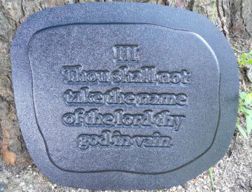 """10 Commandments Plaque Mold Plastic Mould 13/"""" x 10/"""" x 3//4/"""""""