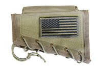 Tan Cheek Rest Stock Riser + Usa Flag Patch Fits Ruger 10/22 American Rifles