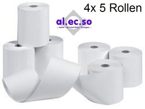 5 Additionsrollen f Texas Instruments TI5045  57mm x 40m x 12mm weiß 60g Papier