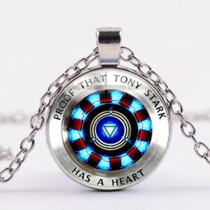 Details about Marvel Avengers Movie Iron Man Tony Stark Arc Reactor  Necklace Silver Chain