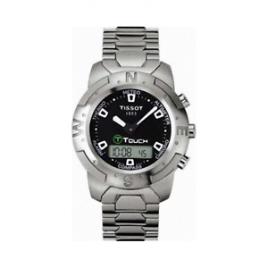 Tissot-Swiss-Made-T-Touch-Anadigi-Chrono-Men-039-s-Stainless-Steel-Watch