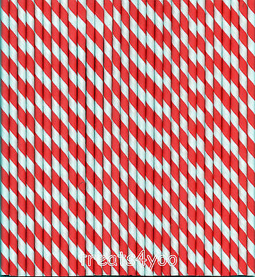 RETRO STRIPED PAPER DRINKING STRAWS FOR PARTYS AND CELEBRATION