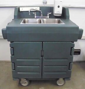 Image Is Loading Cambro KSC402 Portable 2 Comp Hand Washing Sink