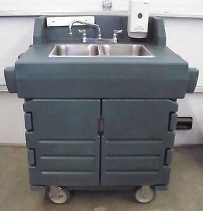 Cambro Ksc402 Portable 2 Comp Hand Washing Sink Ebay