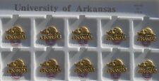 NCAA Licensed Arkansas Razorbacks Brass Pin Made In The USA  NWT