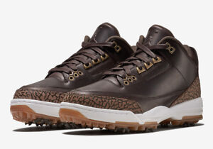 Details about Nike Air Jordan 3 Retro Premium Golf Cleat SZ 10 Bronze Brown  Gum OG AO8952-200 1f5f20dcf