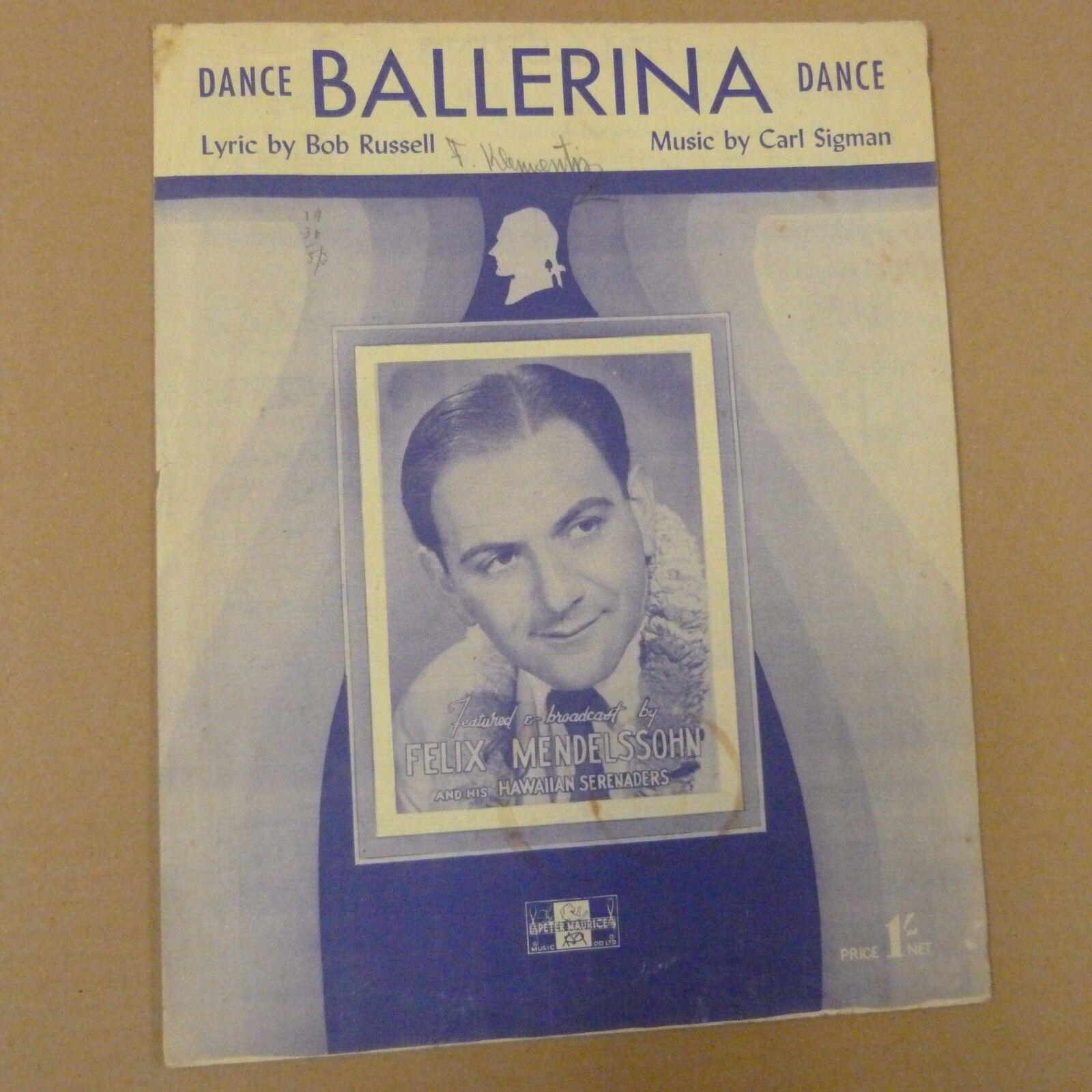 Fond de danse danse ballerine danse de felix mendelssohn 1947 441c72