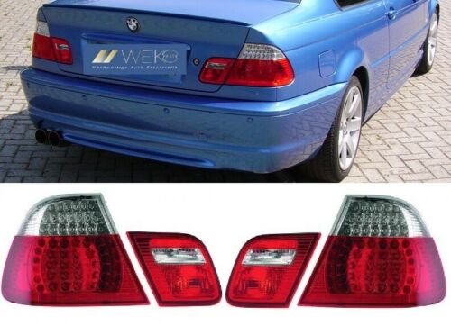 LED Rückleuchten Set Klarglas rot weiss Facelift Optik BMW 3er E46 Coupe
