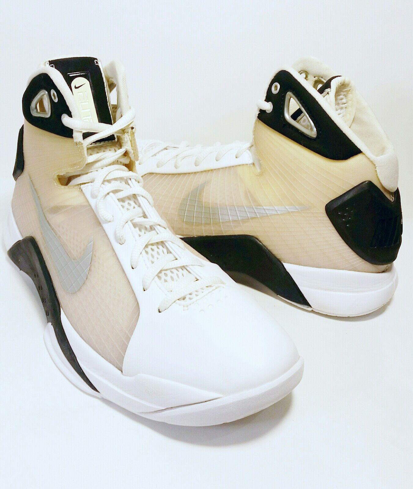 NIKE ELITE blanc /Clear/ Noir  Hommes Basketball Chaussures 324828-101