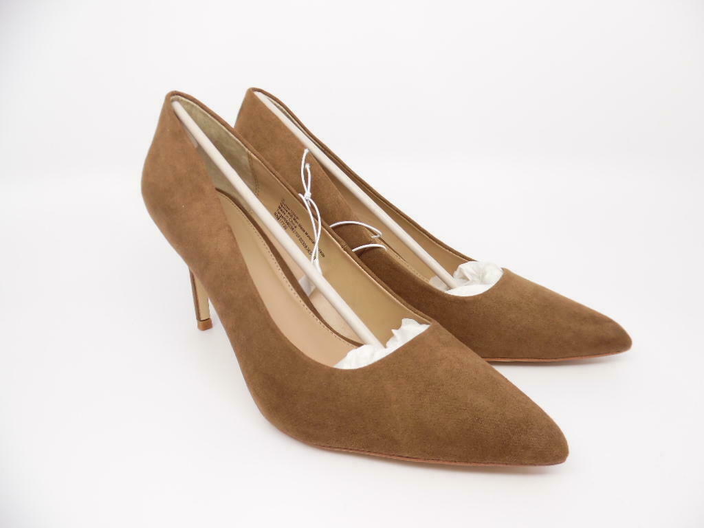 A New Day Women's Gemma Pointed Toe Pumps - Cocoa (Brown) - Size 10 Heels Shoes