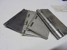 4 Lot Odd Graingerother Mix Lot 6 Steel Weld On Surface Hinges