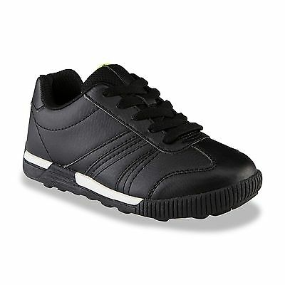New Boys Route 66 Ken Sneaker Youth Sizes Style 92242 KEW Black//White 190B lr