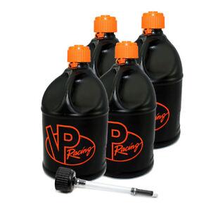 4 Pack Vp Racing V Twin 5 Gallon Round Fuel Jug Extra Cap