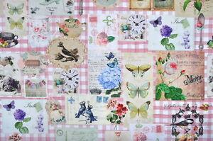 Das Bild Wird Geladen Deko Moebel  Patchwork Stoffe Baumwolle Vorhang Menue Motiv