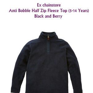 BOYS-FLEECE-TOP-WARM-AND-COZY-HALF-ZIP-EX-CHAINSTORE-ANTI-BOBBLE-5-14-YEARS