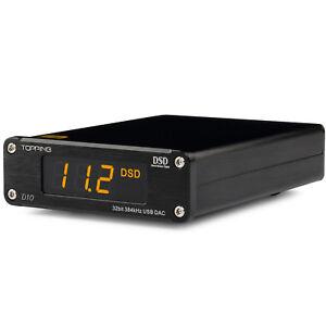 Details about Topping DSD D10 ES9018K2M PCM384 & DSD256 USB DAC XMOS XU208  OPA2134