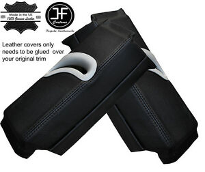 BLACK-STITCHING-2X-UPPER-B-PILLAR-LEATHER-COVERS-FITS-AUDI-A5-COUPE-2007-2014
