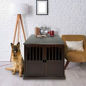 Large-Dog-Crate-XL-Indoor-Pet-Kennel-End-Table-Stand-Dog-House-Cage-Furniture