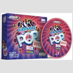 Karaoke-CDG-Discs-Zoom-Pop-Box-Hits-Of-2017-120-Chart-Hits-6-CD-G-Disc-Set