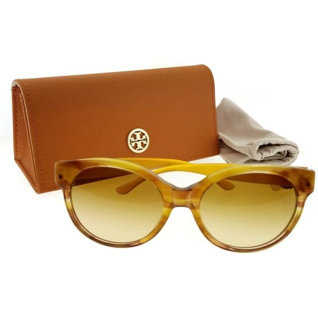 0311590c0a31 Tory Burch TY 7123 17452l Amber Brown Gradient Lens Sunglasses Authentic