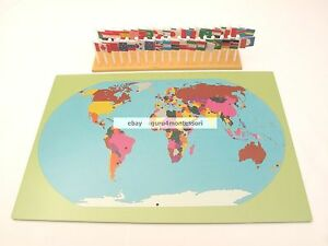 New montessori geography materials flag stand world map 36 image is loading new montessori geography materials flag stand world map gumiabroncs Images
