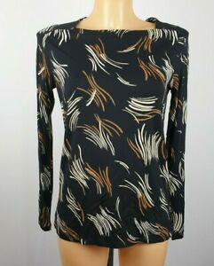 NEW-Ex-M-amp-S-Ladies-BLACK-Print-Top-Size-6-22
