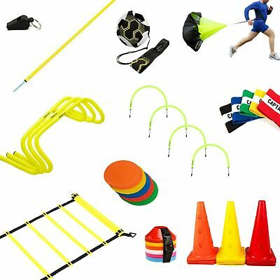 Sport Football Training Speed Agility Hurdles Poles Cones Ladders Equipment Set