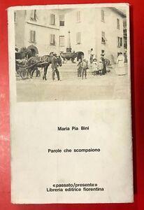 MARIA-PIA-BINI-PAROLE-CHE-SCOMPAIONO-1974-FIORENTINA-UM