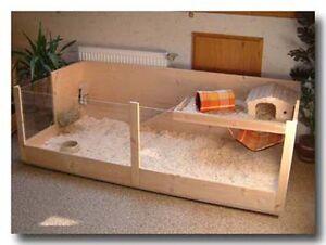 bauanleitung rechteck k fig f r meerschweinchen kaninchen aus holz und glas ebay. Black Bedroom Furniture Sets. Home Design Ideas