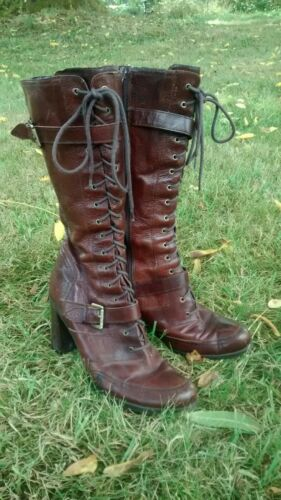 Nine West Leather Equestrian Style Women's Boots L