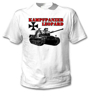 KAMPFPANZER-LEOPARD-GERMANY-WWII-NEW-COTTON-WHITE-TSHIRT