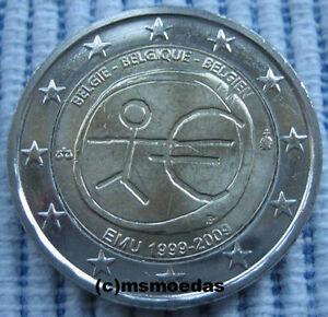 Belgien 2 Euro Gedenkmünze 2009 Emu 10 Jahre Wwu Euromünze