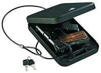 Stack-on Pc-95k Portable Handgun Safe Pistol Box Key Lock Black Car Revolver