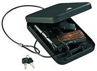 Stack-on Pc-95k Portable Handgun Safe Pistol Box Key Lock Black Car Revolver