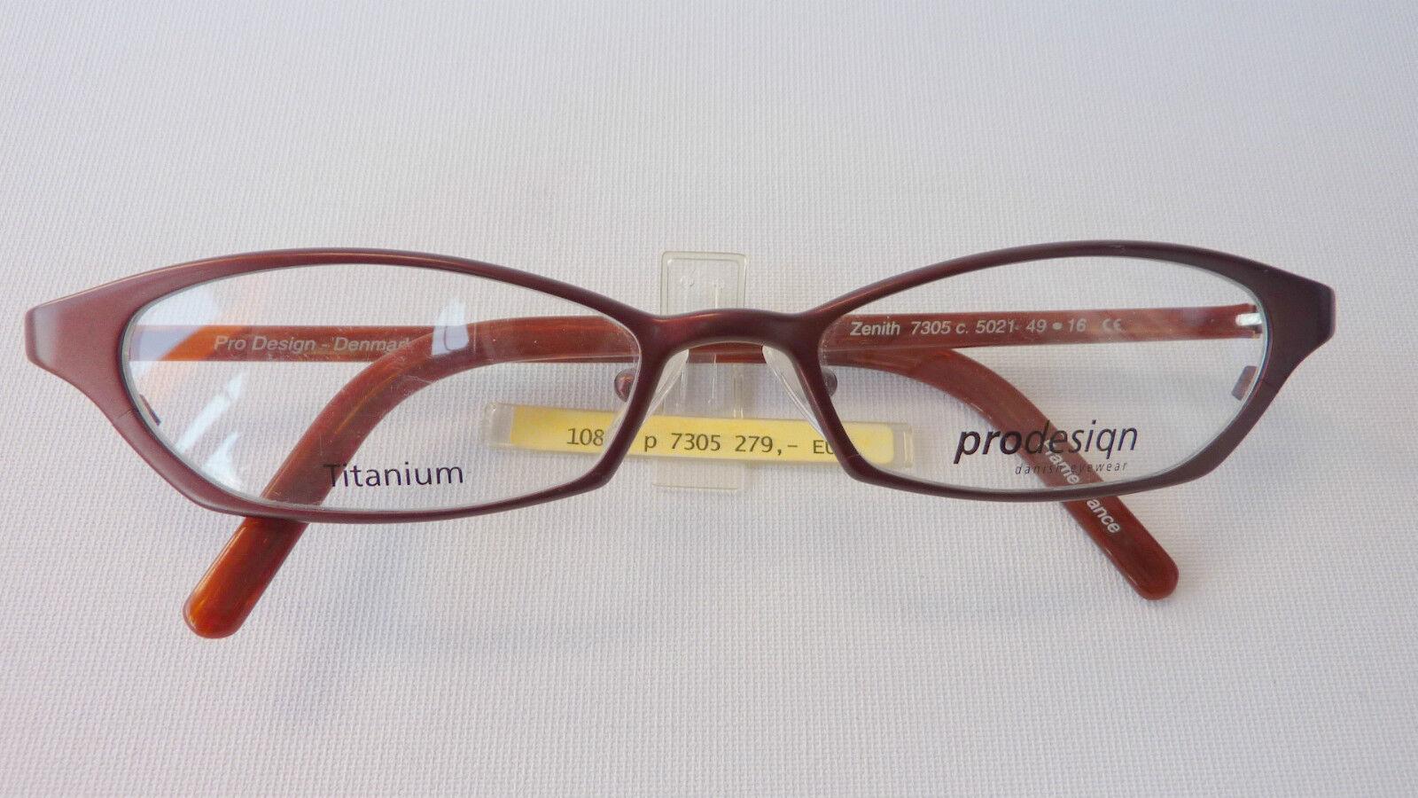 Pro Design besondere Cateye Brille schmale Glasform leichtes Titan 49-16 Größe M  | Komfort  | Um Eine Hohe Bewunderung Gewinnen Und Ist Weit Verbreitet Trusted In-und   | Internationale Wahl