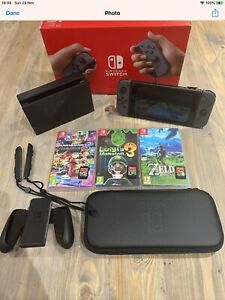 Nintendo-Switch-Bundle-With-3-Games-Barely-Used-Mint-Condition