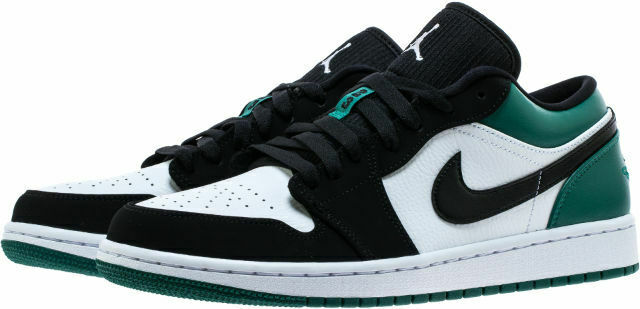 sports shoes c1fb2 ad9ec New Sz 10-14 Nike Air Jordan Retro 1 Low Mystic Green White Black  553558-113 AJ1
