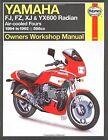 Yamaha: FJ, FZ, XJ & YX600 Radian - Owners Workshop Manual by J. H. Haynes, J.G. Edwards (Hardback, 1994)