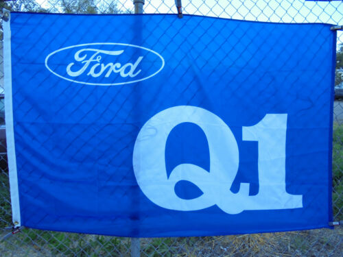 Authentic Ford Dealer Q1 Quality Achievement Award 4/'x6/' ISO Honors Flag Banner