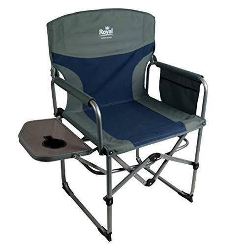 Royal Compact Director/'s Chair with Table Blue//Silver 355401 Camping Caravan