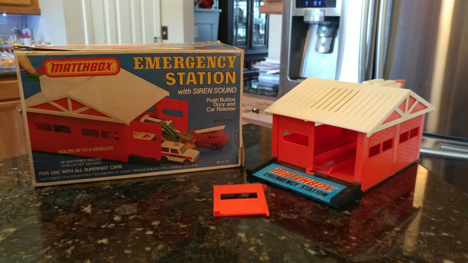 Vintage Matchbox Emergency Station With Siren Sounds 1975 with Original Box