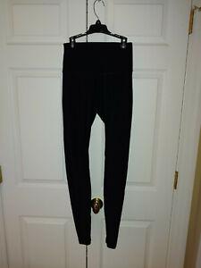 Women-Lululemon-Solid-Black-Leggings-Size-2