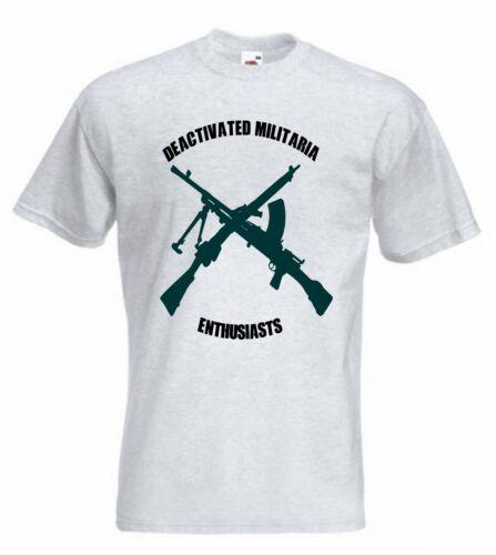 Deactivated Militaria Enthusiasts TShirt DME Sweatshirt T-Shirt Bren Gun 303