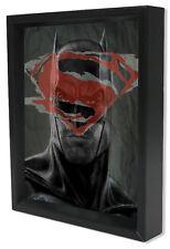 BATMAN V SUPERMAN8x10 3D SHADOWBOX DCCOMICS FILM BEN AFFLECK SUPERHERO FIGHT ART