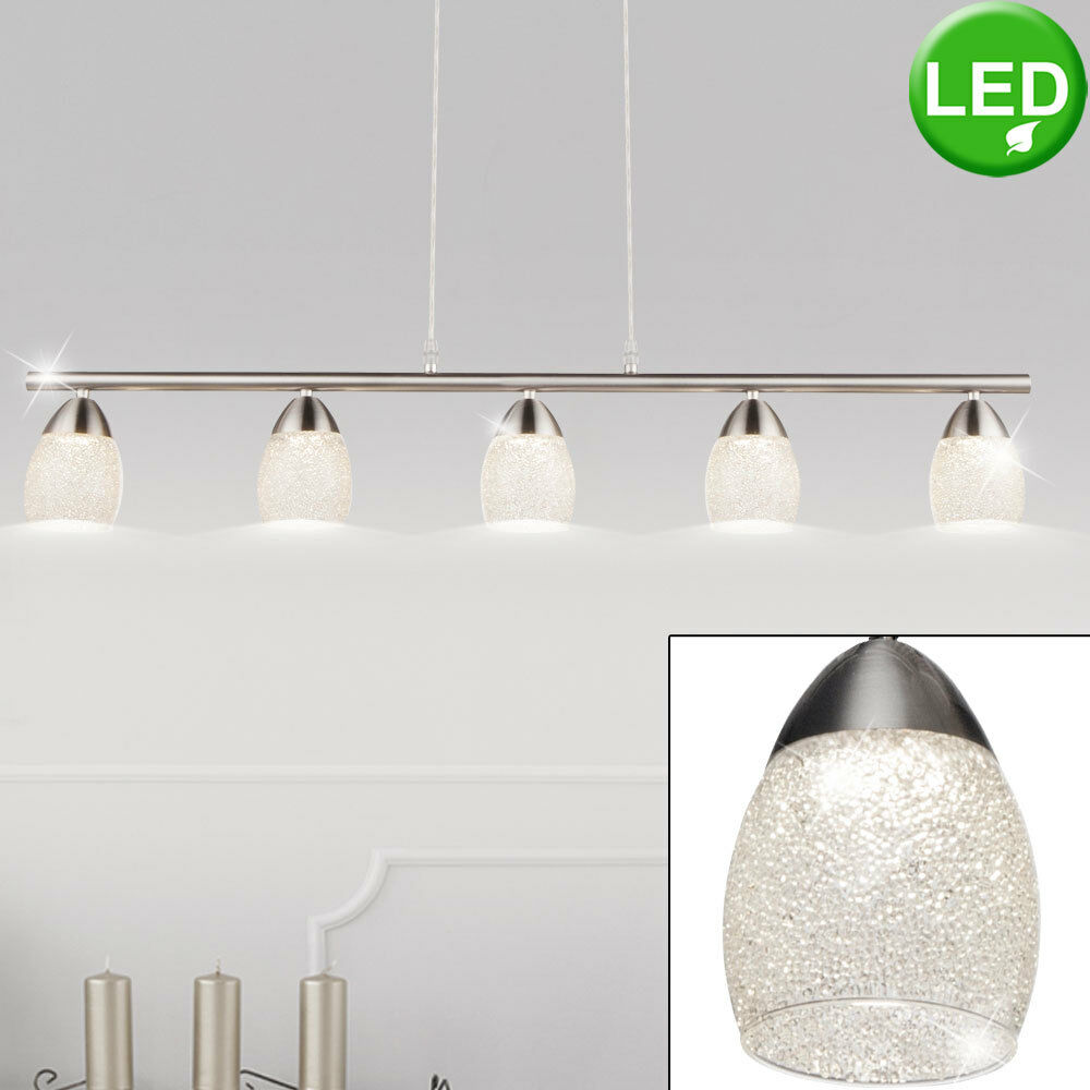 LED Lámpara Techo Colgante De Diseño Salón Lámpara Colgante Cristal manchas Cromo